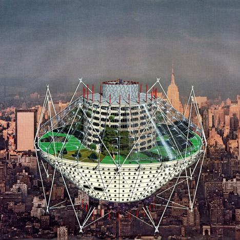Jan Kaplický's futuristic drawings go on show at London's Architectural Association