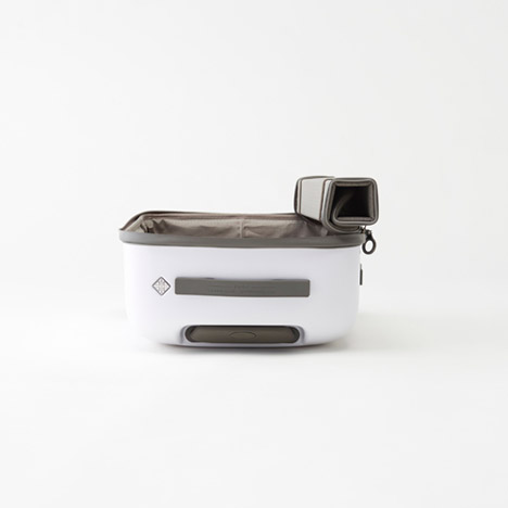 Kame suitcase by Nendo