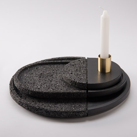 Peca's Lava plates are made from half-polished volcanic stone