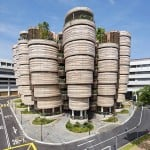 Heatherwick's textured-tower university building completes in Singapore