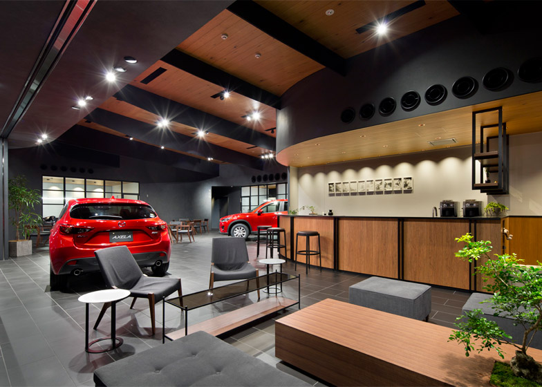 suppose design office completes car showroom for mazda. Black Bedroom Furniture Sets. Home Design Ideas