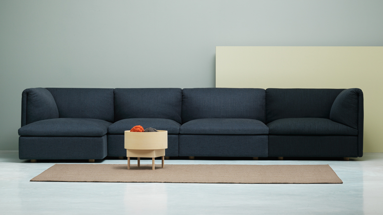 Monica Förster Folds Cushions Over Sofa Modules For Fogia