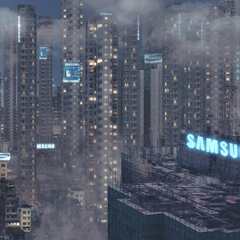 "Panoramic animations offer ""romantic overview"" of dystopian future cities"