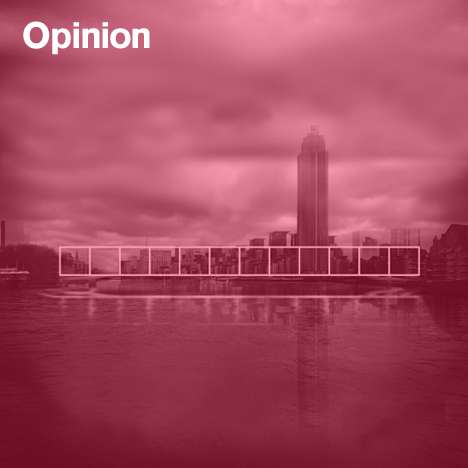 OMA's proposal for Nine Elms Bridge, Southbank
