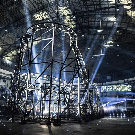 Rollercoaster provides centrepiece for Philipp Plein catwalk