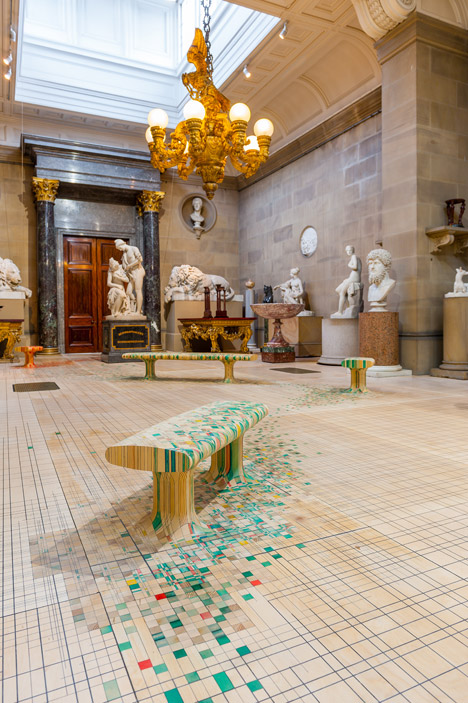 Raw Edges Endgrain installation at Chatsworth House