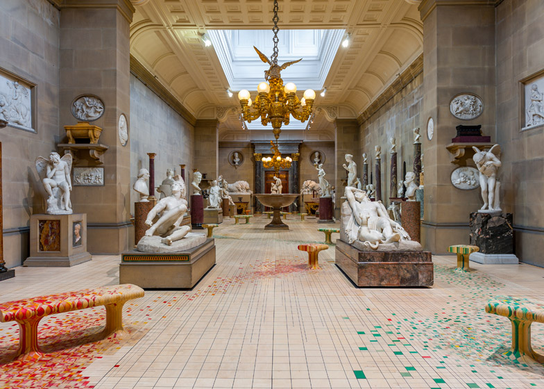 Superbe Raw Edges Endgrain Installation At Chatsworth House