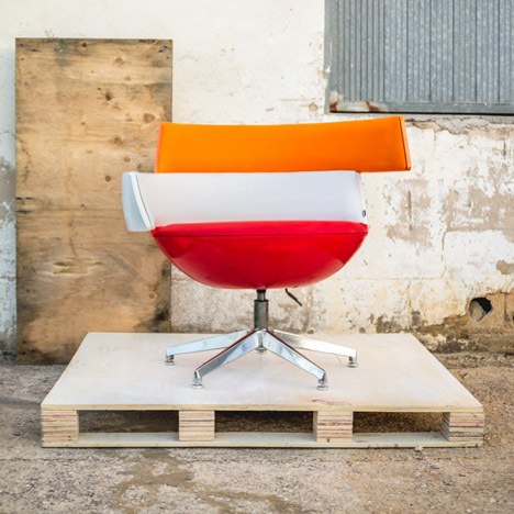 Yonoh turns energy company logo into a chair