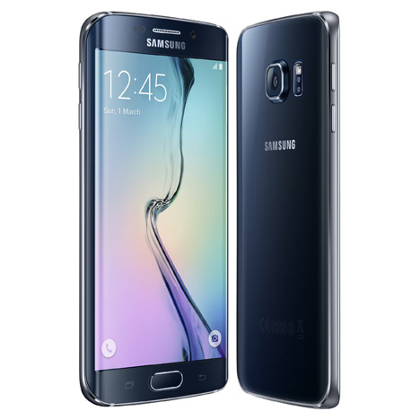 Samsung Galaxy S6 Edge smartphone features a curved screen
