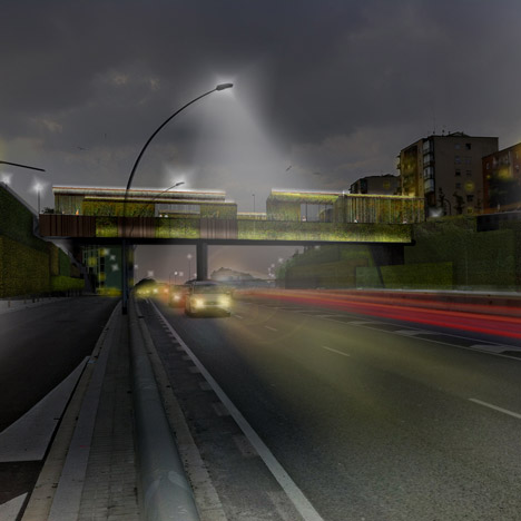 Barcelona bridge to be upgraded with smog-eating concrete and luminous pavements