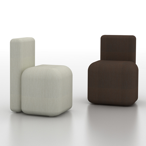 Season chair by Piero Lissoni comprises two simple volumes