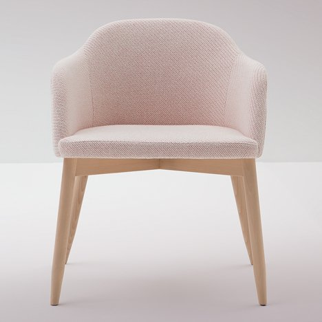 Emilio Nanni's Spy chair features a thin seat to expose its frame
