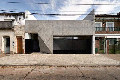 Concrete house facade pictures