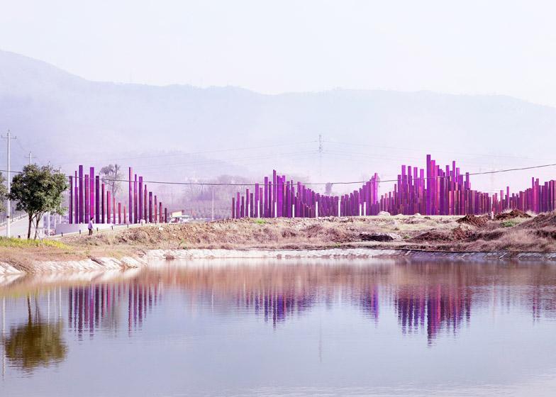 The Soundwave installation by Penda