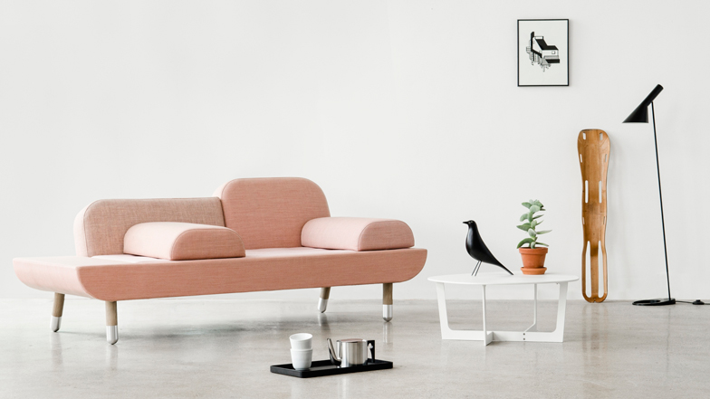 Anne Boysen's Toward Sofa reconfigures for different sitting positions
