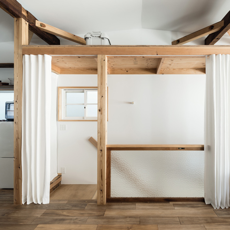 Curtains Ideas curtains for walls : Curtains replace walls inside renovated Osaka townhouse