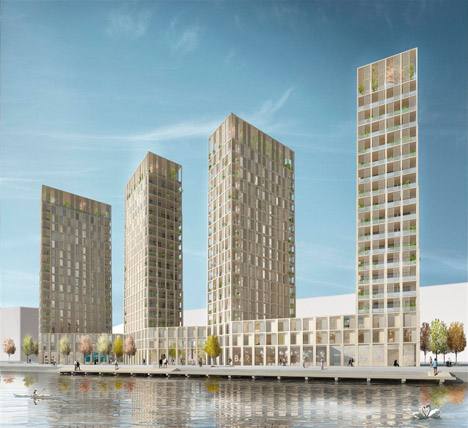 Wooden high rises by Tham and Videgard