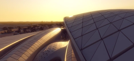 Bee'ah fly-through animation by Zaha Hadid