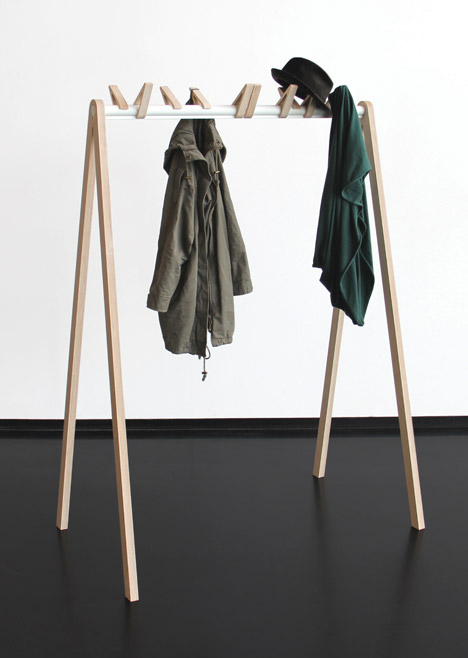 Birds in a Row Coat Rack by Katharina Ganz & Christine Herold. Photograph by MID (made in darmstadt)