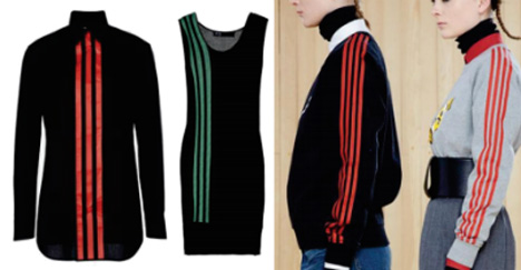 Adidas and Marc Jacobs garments
