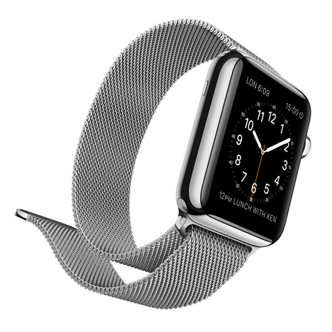 Apple Watch with Milanese loop strap