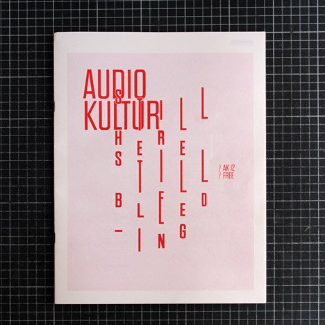 Audio Kultur magazine posters made with human blood Still Here Bleeding