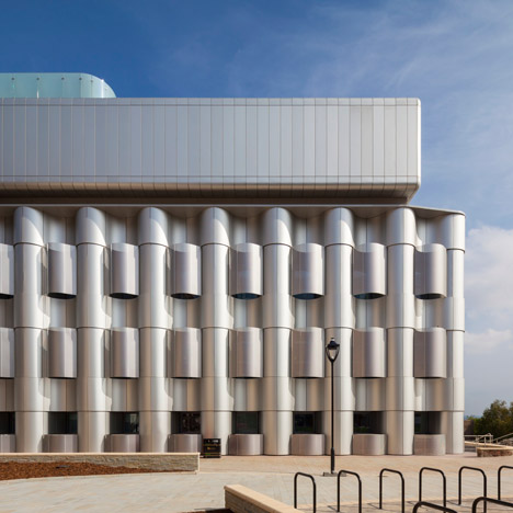 Rippling aluminium fronts Bristol university laboratories by Sheppard Robson