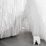 Snarkitecture creates warren of textile ribbons for COS
