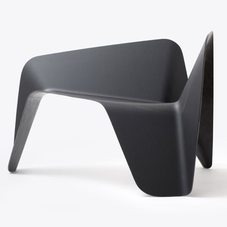 Thomas Feichtner sculpts chair from carbon-fibre sheets