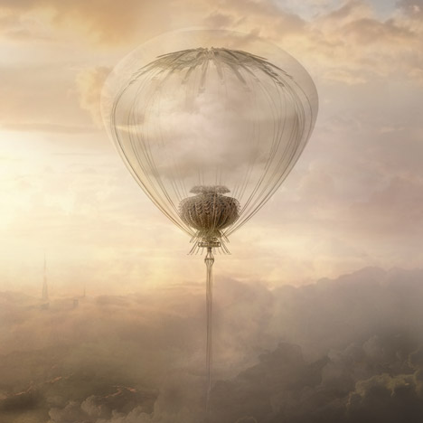 Cloud Capture is an imaginary flying machine for bringing rain to the desert