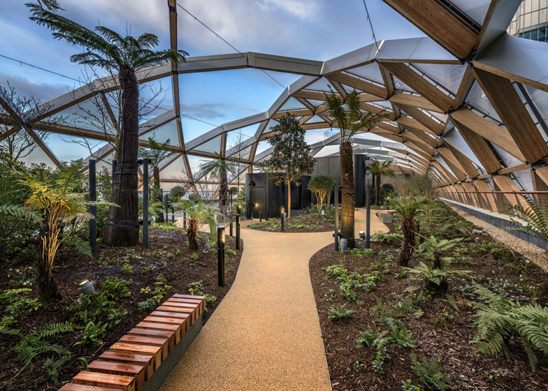 Fosteru0027s Crossrail Place Roof Garden Opens At Canary Wharf