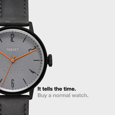 Dezeen Watch Store buy a normal watch campaign Tsovet
