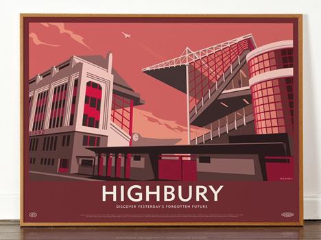 Dorothy Highbury Stadium poster Lost Destinations