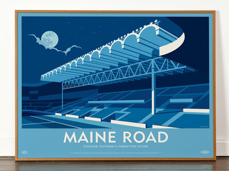 Dorothy Maine Road Stadium poster Lost Destinations
