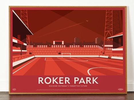 Dorothy Roker Stadium poster Lost Destinations