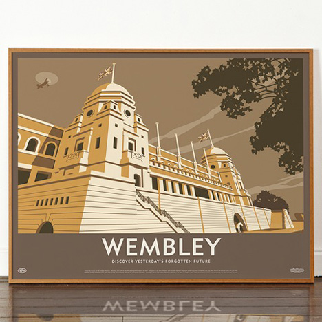 Dorothy Wembley Stadium poster Lost Destinations