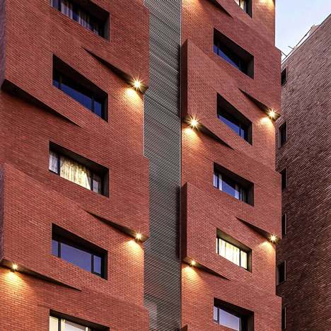 Edges Apartments designed by Studio Toggle to resemble a pile of stacked blocks