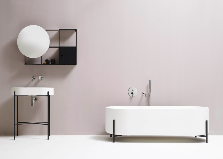 Fabulous  Felt shelf Hat lamp and Stand bathtub and basin by Norm Architects for Ex