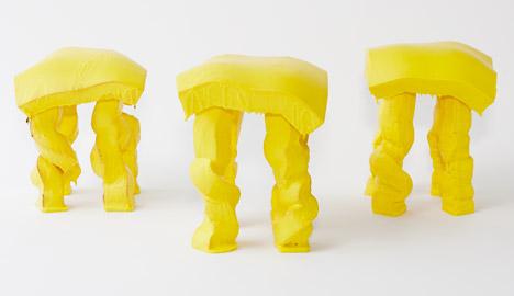 Fondue Stool by Satsuki Ohata