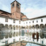 GamFratesi covers Milanese cloister with mirrors for Mindcraft exhibition of Danish design