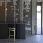 Ninkipen! leaves walls unfinished inside Kyoto design gallery and atelier