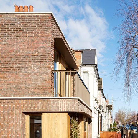 Small London home by Satish Jassal Architects is clad in brick both inside and out