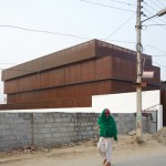 Sameep Padora's Lattice House is an Indian holiday home wrapped by wooden screens