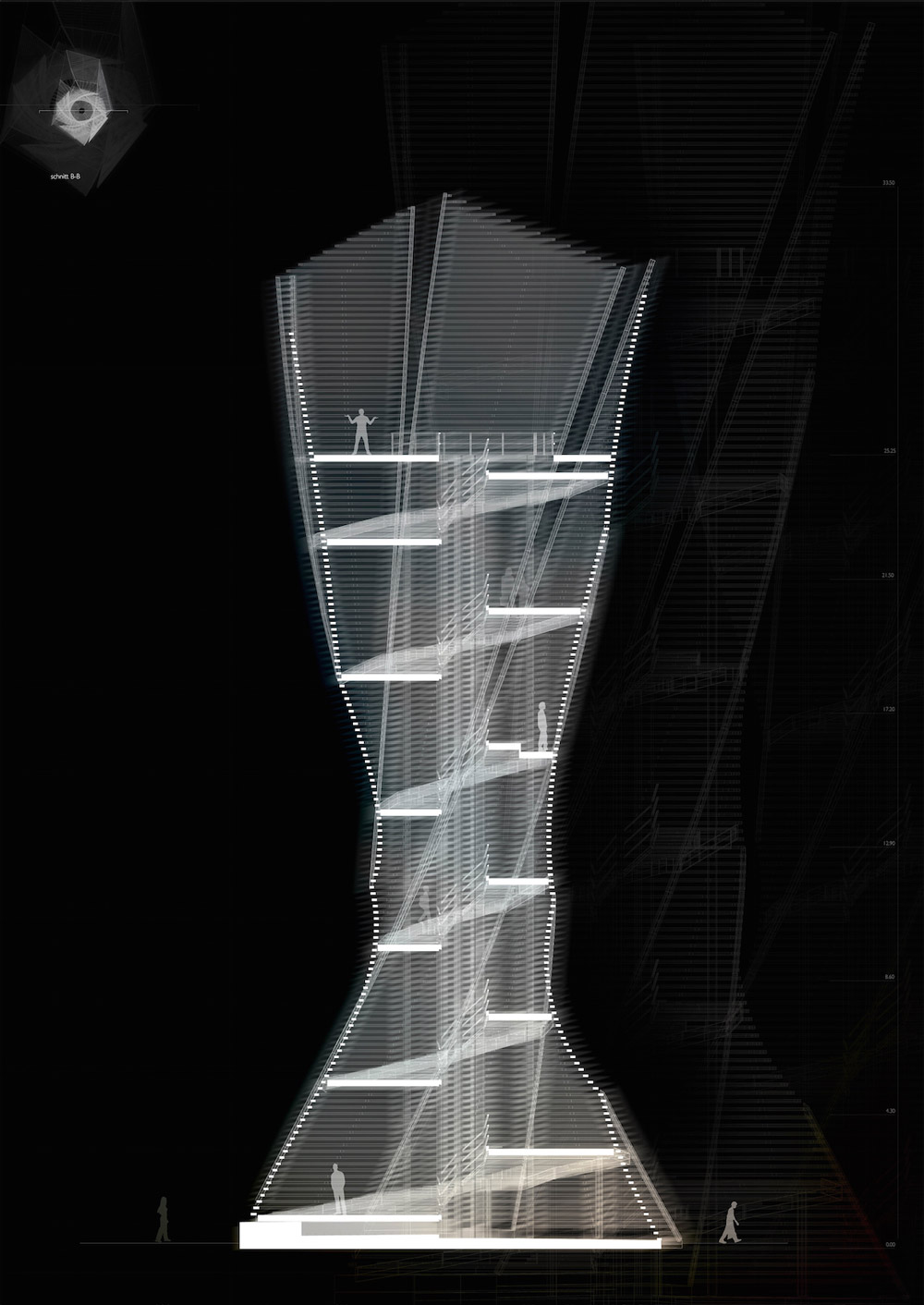 Twisting observation tower could be built in a northern for Observation tower plans
