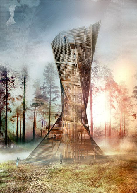 Look-out tower by Anton Pramstrahler