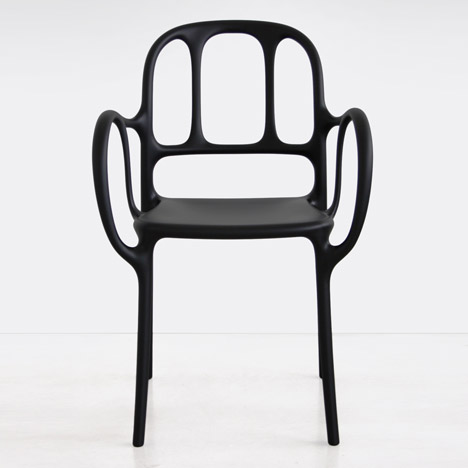 Jaime Hayón's debut plastic product is a skeletal chair for Magis