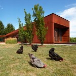 Superkül extends Canadian farmhouse with rusty Corten-clad block