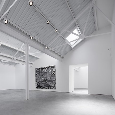 Modern Art gallery takes over three London warehouses opposite a Hawksmoor church