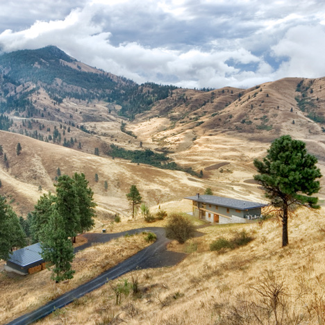 Nahahum Cabin is a canyon retreat built into the landscape