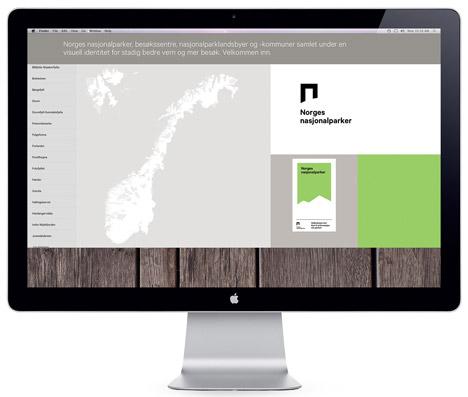 Norway National Parks brand identity by Snøhetta